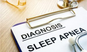 after doctor's consultation, the diagnosis is sleep apnea